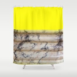 Greek Yellow Marble Shower Curtain