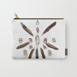 Amethyst Crystal Grid Carry-All Pouch