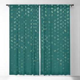 pisces zodiac sign pattern tw Blackout Curtain