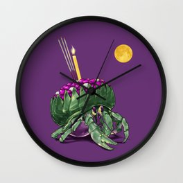 Krathong Crab // Full Moon Hermit Crab Wall Clock