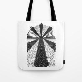 Dark Sun Rising Tote Bag