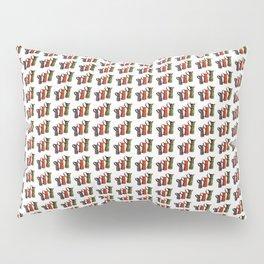 Narrowboat art Jugs pattern Pillow Sham