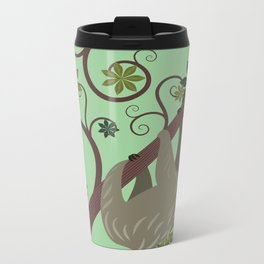 Sloth in a Tree Metal Travel Mug