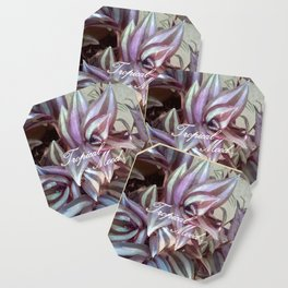Exotic tropical-mood purple leaves, tropical-leaves decor buyart , society6 Coaster