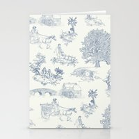 lotr Stationery Cards featuring Shire Toile by Jackie Sullivan