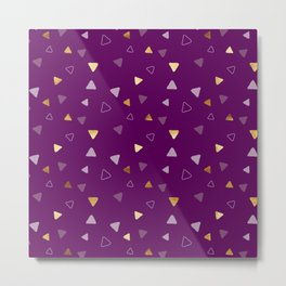 Multi Triangles - Wine Metal Print