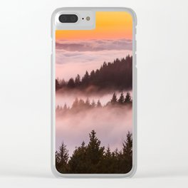 Bolinas Ridge Foggy Sunset Clear iPhone Case