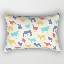 Best animal silhouette pattern design Rectangular Pillow