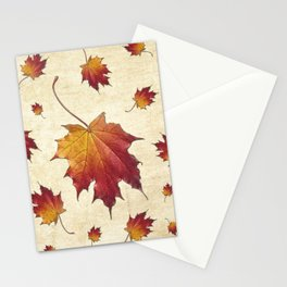 The last dance of a falling leaf Stationery Cards