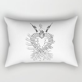save the elephant and the rhinoceros Rectangular Pillow