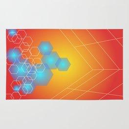 Hexagons background, hot gradients Rug