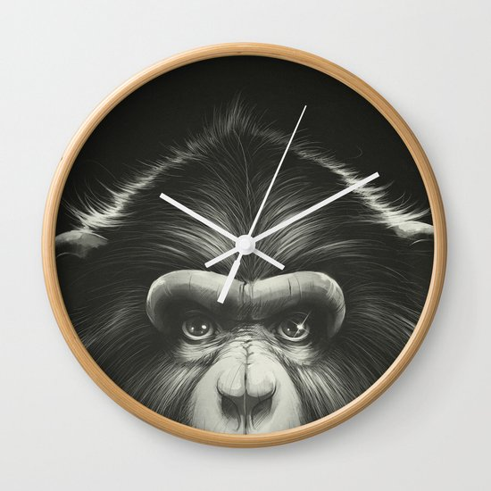 Monkee with Tooth Wall Clock