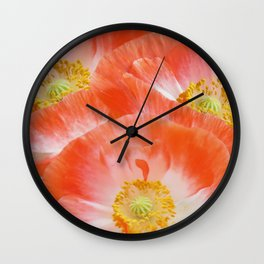 The beauty of poppies Wall Clock