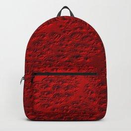 Damaged red metal Backpack