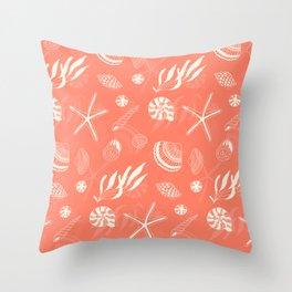 Sea shells patten Throw Pillow