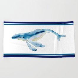 humpback buddy Beach Towel