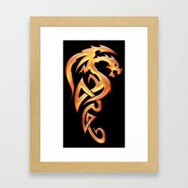 Golden Dragon Framed Art Print