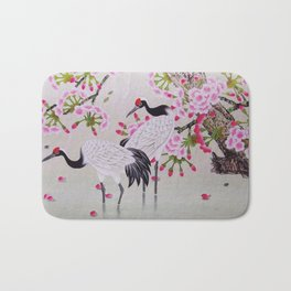 Chinese - Crane and Sakura Bath Mat