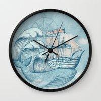 ship Wall Clocks featuring Ship by De Assuncao création