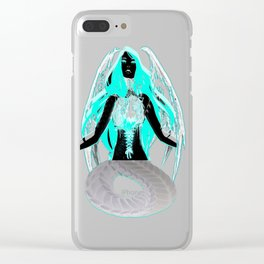 Inverse Chest Ripped open Demon Clear iPhone Case