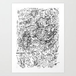 Robot manual Art Print