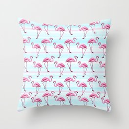 Flamingo pattern Throw Pillow