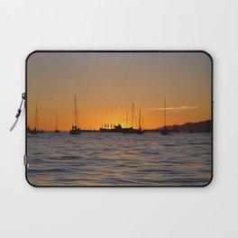 Sunset Boats Laptop Sleeve