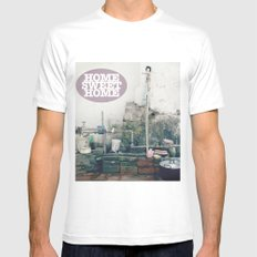 HOME SWEET HOME SERIES Mens Fitted Tee White MEDIUM