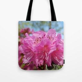 Rosy Rhododendron Flowers Tote Bag