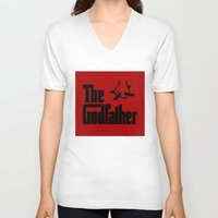 godfather V-neck T-shirts featuring The Godfather by SwanniePhotoArt