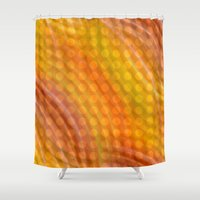 orange pattern Shower Curtains featuring Pattern orange by Christine baessler
