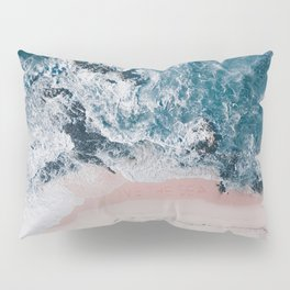 I love the sea - written on the beach Pillow Sham