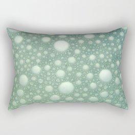 Abstract green teal modern polka dots texture pattern Rectangular Pillow