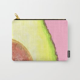 Avocado Pink Background Carry-All Pouch