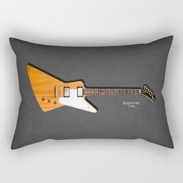 The Explorer Guitar 1958 Rectangular Pillow