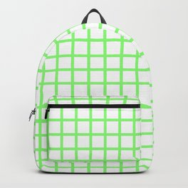 Grid (Lime & White Pattern) Backpack