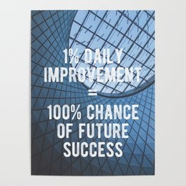 Motivational - 100% Chance of Success Poster