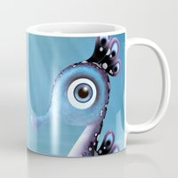 seahorse Mugs featuring Seahorse by Heidy Curbelo