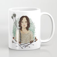 allison argent Mugs featuring Allison Argent by amanda herzman