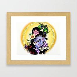 Sweet Krishna Framed Art Print