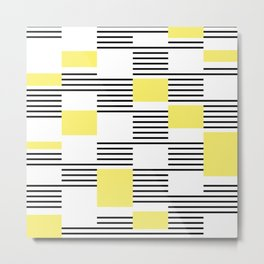 Stripes and rectangles Metal Print