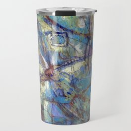 Dragonflies in blue Travel Mug