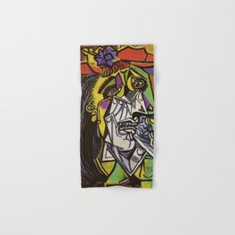 THE WEEPING WOMAN - PICASSO Hand & Bath Towel