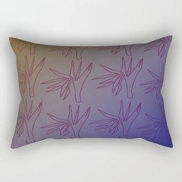 Design Exotico - blue, gold Rectangular Pillow
