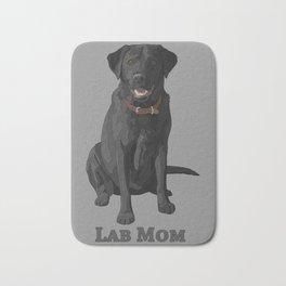 Dog Mom Black Labrador Retriever Bath Mat