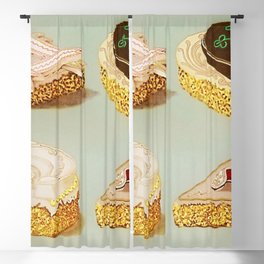 Decorated French Cakes Gateaux, Pastry, petit fours - T. Percy Lewis & A. G. Bromley Poster Blackout Curtain