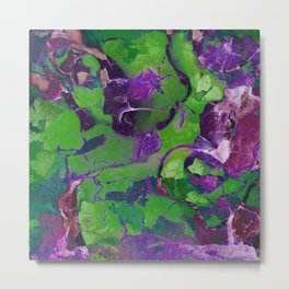 Abstract Green and Purple Garden 767 Metal Print