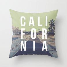 California on the Tracks Again Throw Pillow