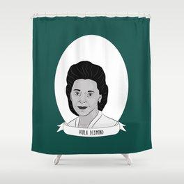 Viola Desmond Illustrated Portrait Shower Curtain