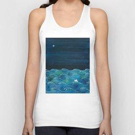 Storm, Ocean waves Unisex Tank Top